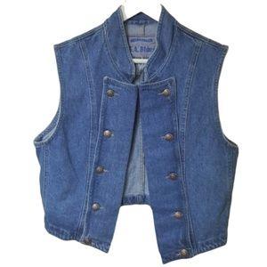 Vintage denim jeans vest